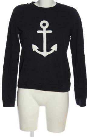 Pimkie Sweatshirt schwarz-weiß Motivdruck Casual-Look