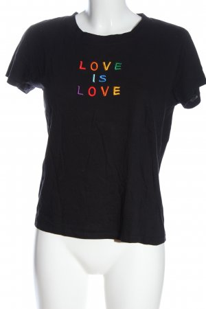 Pimkie T-Shirt black embroidered lettering casual look
