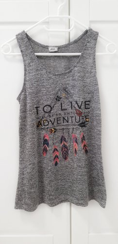 Pimkie T-Shirt ärmellose, grau mit Indianer Print