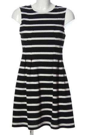 Pimkie Trägerkleid schwarz-weiß Streifenmuster Casual-Look