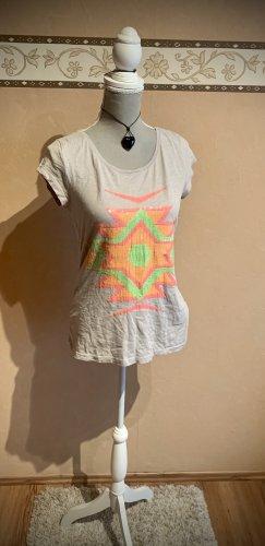 Pimkie Tshirt mit Neon Pailettenin M