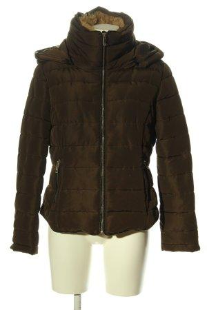 Pimkie Kurtka zimowa brązowy Pikowany wzór W stylu casual