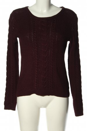 Pimkie Cable Sweater brown cable stitch casual look