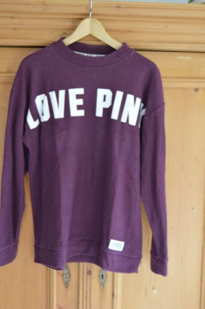 Pink by Victorias Secret Pullover Gr. M mit großem Logo, beere