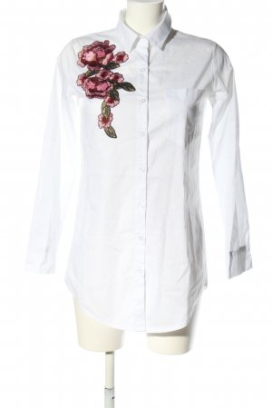 Pink Cherry Long-Bluse weiß Casual-Look