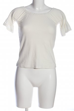 Pink city pirilt Carmen Blouse white casual look
