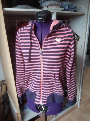 pink-dunkelblau gestreifte Sweatshirtjacke von roxy ❤