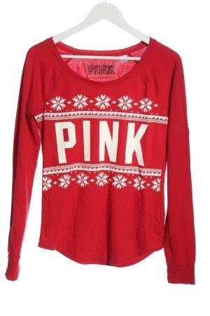 Pink  rosso-bianco motivo grafico stile casual