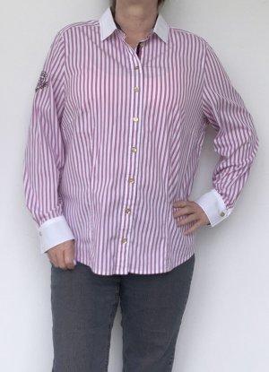 Basler Long Sleeve Blouse pink-white cotton