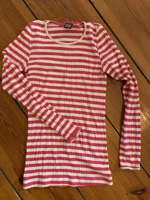 Pink gestreiftes Mads Norgaard Onesize Shirt Streifen-Top