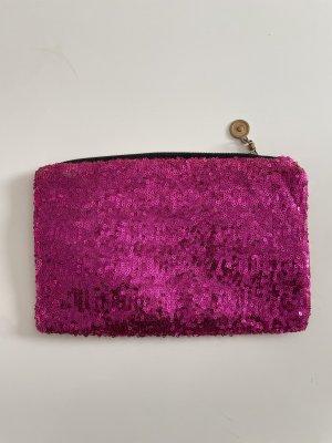 Pink Glitzer Clutch Party Tasche