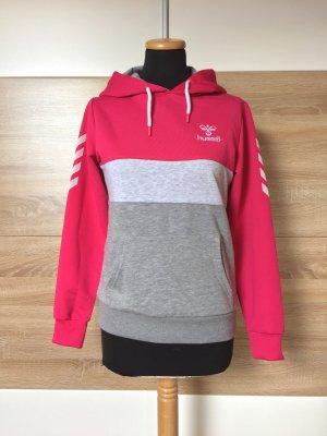 Pink grau Hoodie, Pullover Sweater von Hummel, Gr. S