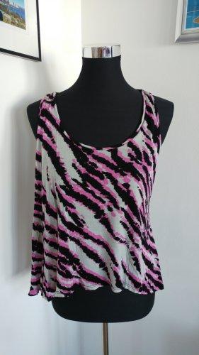 pink graues leoprint Top
