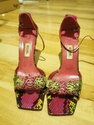 Pink Green Moschino high heels