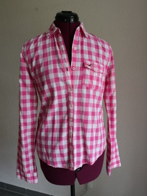 Hollister Blusa a cuadros rosa-blanco