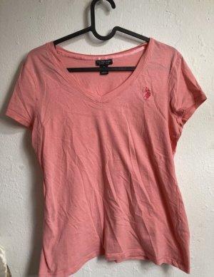 Pink/Korallfarbenes Shirt U.S. Polo Assn