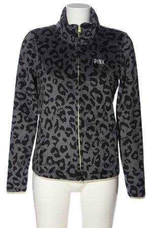 Pink Giacca corta nero-grigio chiaro motivo animale stile casual