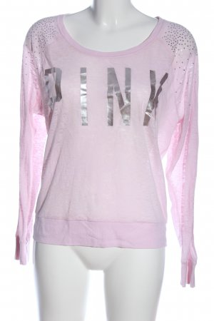 Pink Camicetta a maniche lunghe rosa-argento stile casual