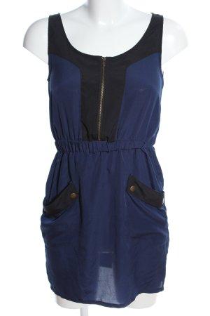 Pink loop Minikleid blau-schwarz Casual-Look