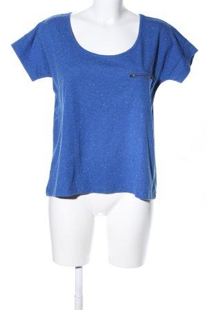 Pink loop T-Shirt blau meliert Casual-Look