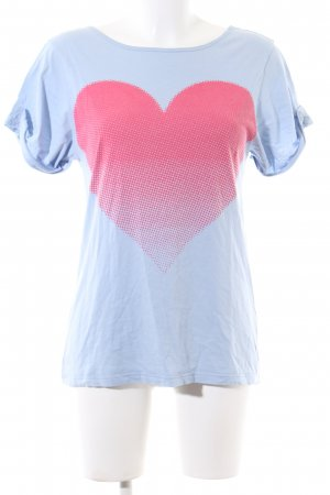 Pink loop T-Shirt blau-rot Motivdruck Casual-Look