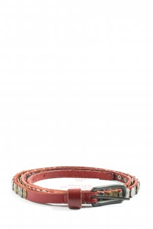 Pink Studded Belt red casual look