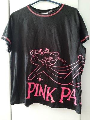Primark T-shirt nero-rosa