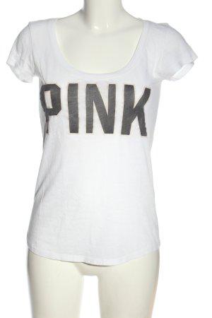 Pink Camicia fantasia bianco-nero Stampa a tema stile casual
