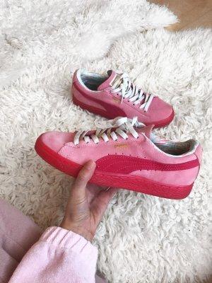Pink/rote Puma Suede