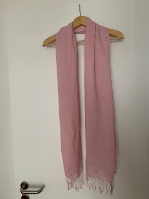 Fringed Scarf light pink mixture fibre