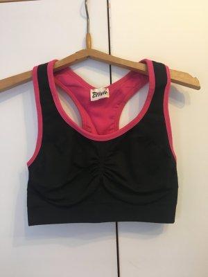 pink schwarzer Sport-BH