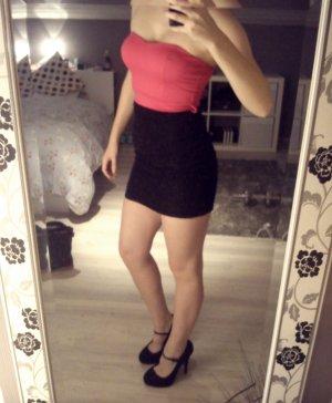 Pink - schwarzes Partykleid