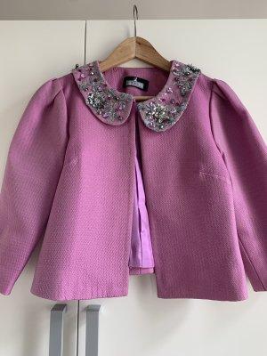 Pink silk bolero jacket size S!