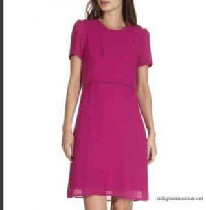 Pink sommer midi Kleid Gr XS