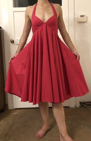 H&M Vestido de cuello Halter rosa-rojo frambuesa