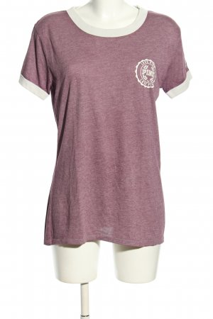 Pink T-Shirt pink meliert Casual-Look