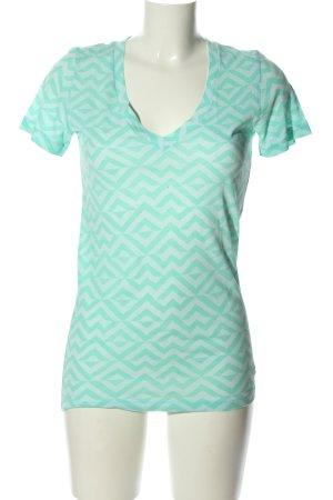 Pink T-shirt turchese motivo grafico stile casual
