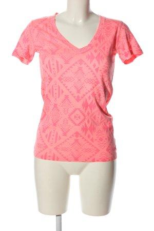 Pink T-shirt rosa motivo grafico stile casual