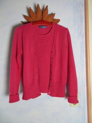Pink thymian Twinset - 100% Cashmere Strickjacke und Pulli - Warm und Weich - Pink Rosa - Gr. S