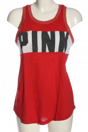 Pink Victoria's Secret Camisole gedrukte letters casual uitstraling