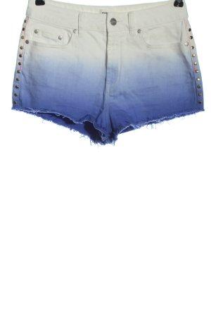 Pink Victoria's Secret Pantalón corto de tela vaquera azul-blanco look casual