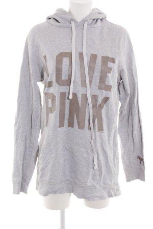 Pink Victoria's Secret Kapuzensweatshirt hellgrau meliert Casual-Look