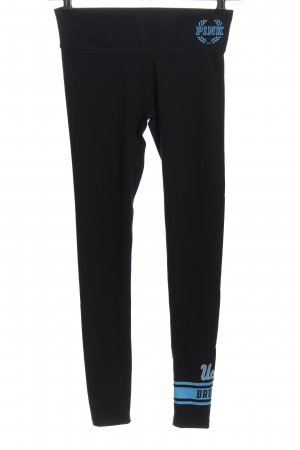 Pink Victoria's Secret Leggings negro-azul letras impresas look casual