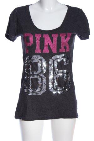 Pink Victoria's Secret Print-Shirt mehrfarbig Casual-Look