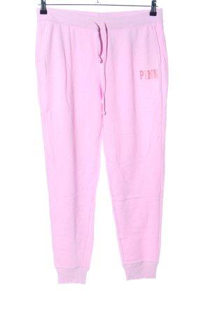 Pink Victoria's Secret Sweathose pink Schriftzug gedruckt Casual-Look