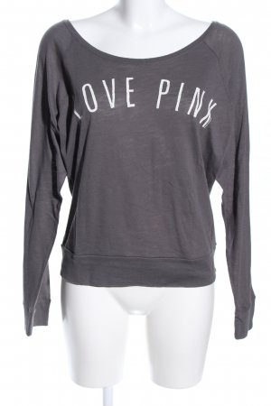 Pink Victoria's Secret Sweatshirt hellgrau Schriftzug gedruckt Casual-Look