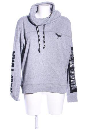 Pink Victoria\u2019s Secret Sweat Shirt light grey,black flecked casual look