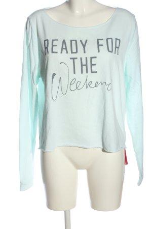 Pink Victoria's Secret Sweatshirt türkis Motivdruck Casual-Look