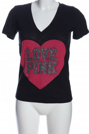 Pink Victoria's Secret T-Shirt schwarz-pink Casual-Look