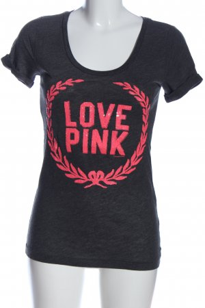 Pink Victoria's Secret T-Shirt schwarz-pink Motivdruck Casual-Look
